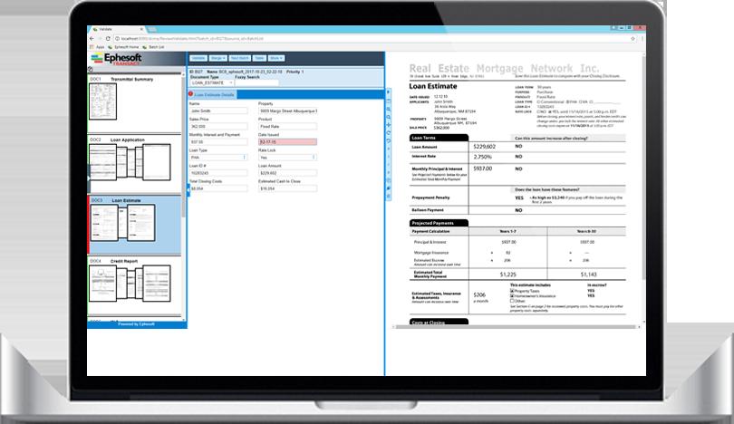 Laptop running scanning software