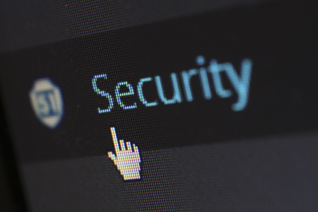 mouse cursor hovering over Security button